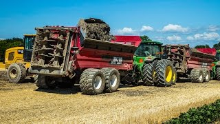 Jaylor M1600HD Manure Spreaders: Papermill Waste Spreading at Sutton Farm
