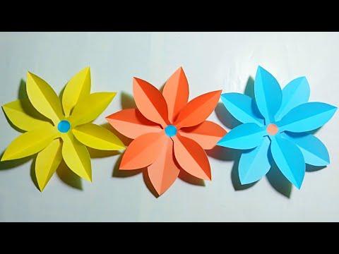 How to make paper flowers || DIY Paper Crafts || Simple and easy paper flower || কাগজের ফুল বানানো