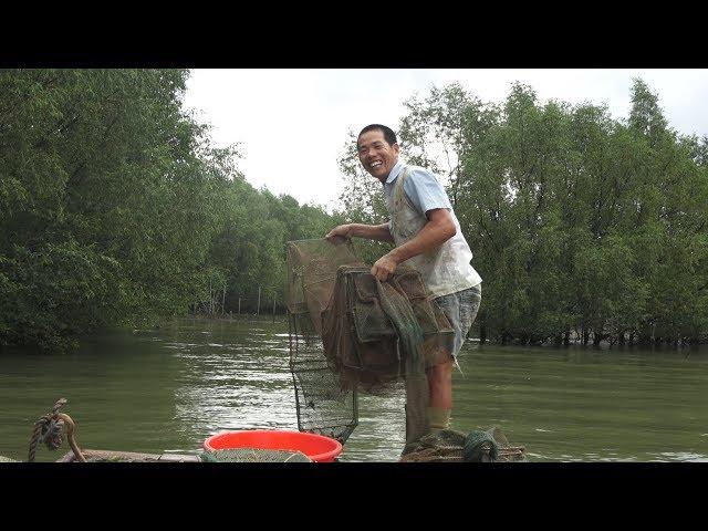今天运气还不错,70块一斤的鱼抓6条,几天没抓到青蟹,这次抓4只