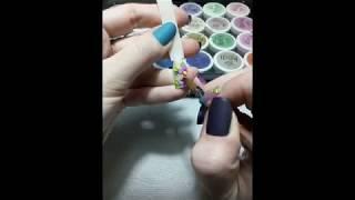 акриловая лепка.как делать лепку.разноцветная лепка.Простой цветок