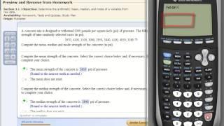 TI 83/84 Calculator Mean Median Mode