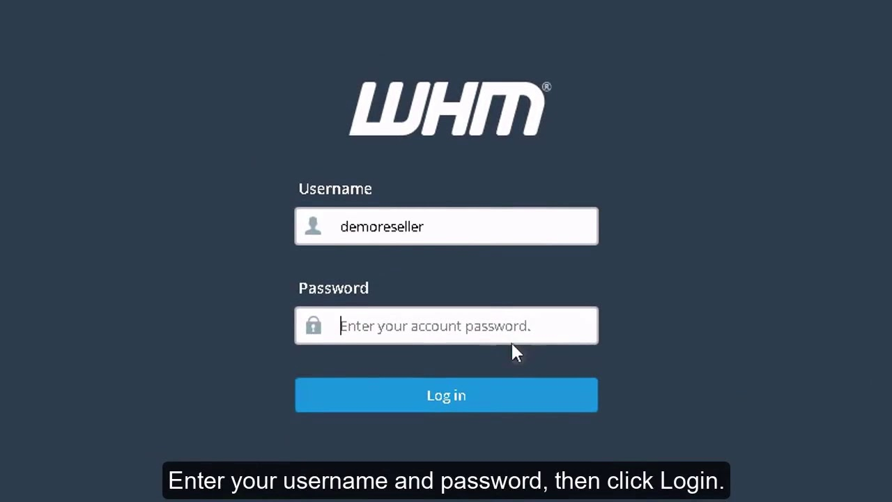How to login to WebHost Manager?