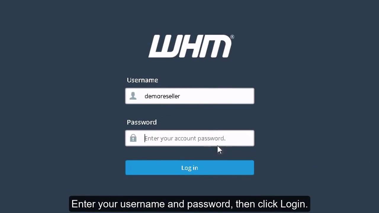 Как войти в WebHost Manager?