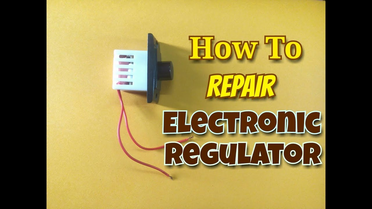 How To Repair Electronic Fan Regulator Switch    Easily Fix A Faulty Dimmer  Switch At Your Home