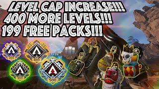 APEX LEGENDS  - LEVEL CAP INCREASE TO 500!!! 199 FREE APEX PACKS!!! 30+ GUN CHARMS!!!
