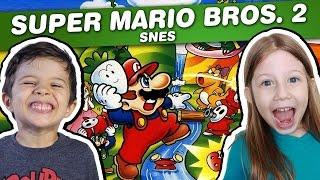 SUPER MARIO BROS 2 - Super Mario All Stars - SNES - Gameplay em Português PT-BR