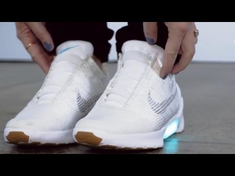 d63e543d073de9 Nike s self-lacing shoes set to release in December - YouTube