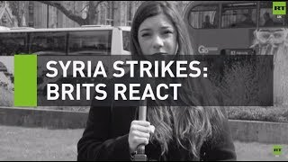 Public reacts to Theresa May's decision to strike Syria