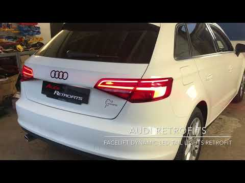 Audi A3 8V Halogen To Facelift Dynamic LED tail Light Retrofit