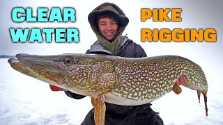 Ice Fishing Northern Pike Rigging With Tip Ups BIG Fish Caught