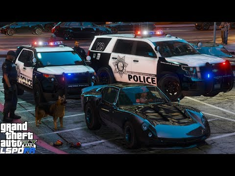 GTA 5 LSPDFR Police Mod 465 | Las Vegas Metropolitan Police K9 Unit | Police Dog Sniffing For Drugs