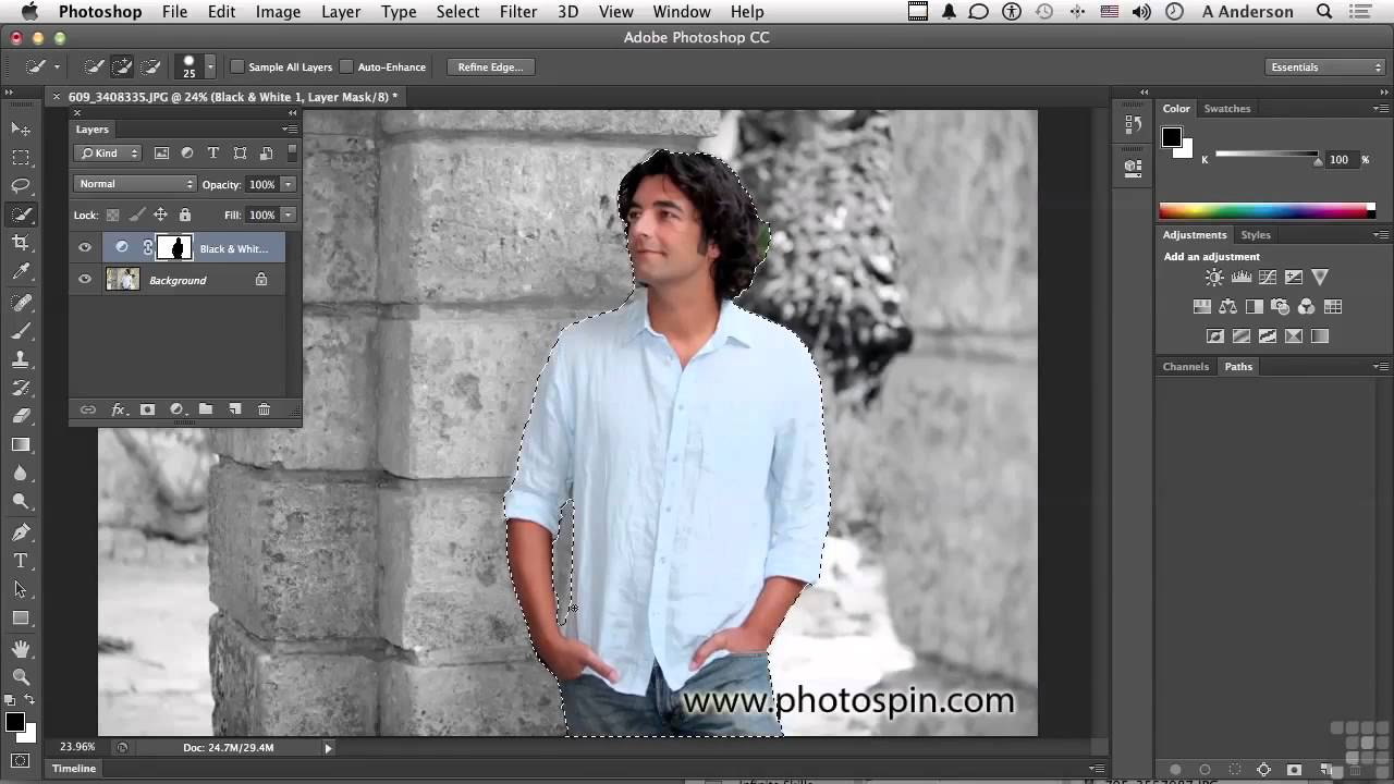 Adobe photoshop cc tutorial working with adjustment layer masks adobe photoshop cc tutorial working with adjustment layer masks youtube baditri Images