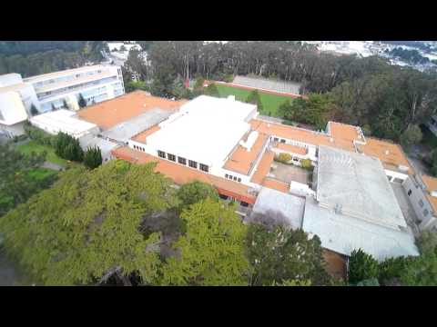 San Francisco State University Campus Drone View SFSU