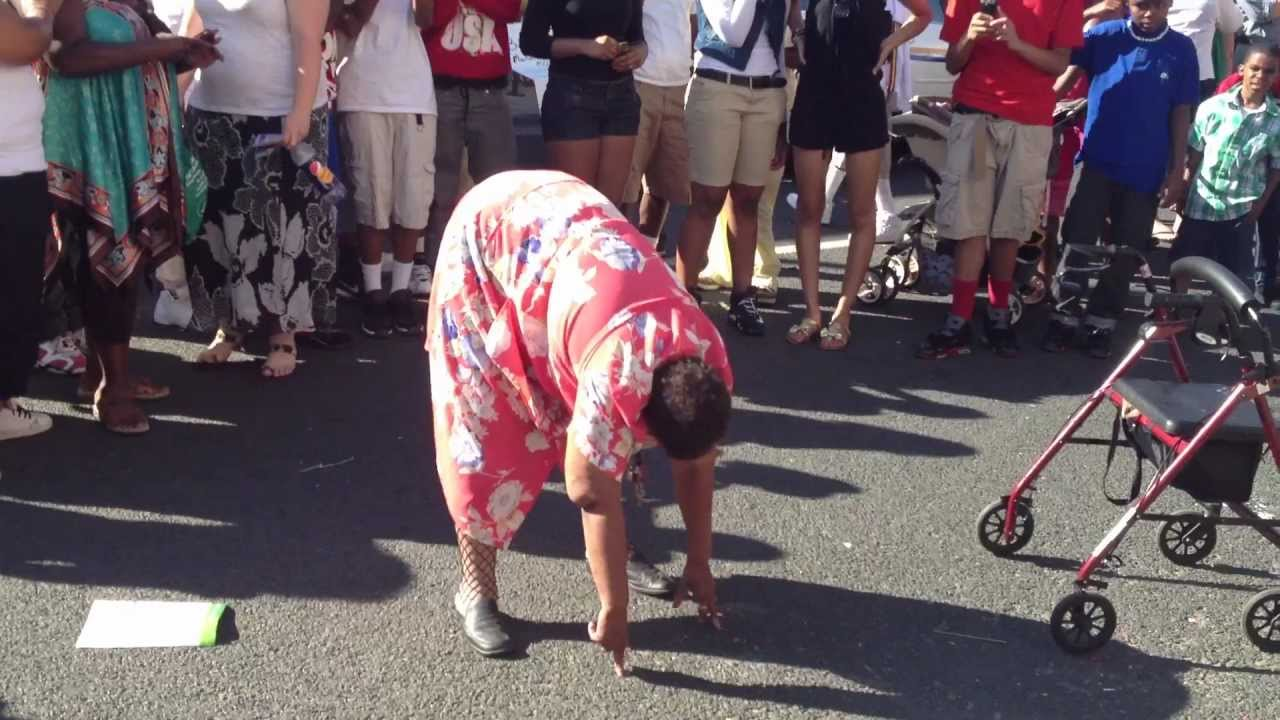 "old lady dancing ""dropping it like it hot""! at the 2012 juneteenth"