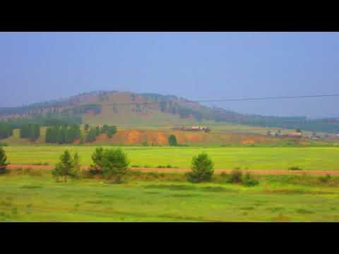 Вид из окна поезда - Природа близ г. Петровск-Забайкальский (забайкальский край)