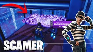 😂CAZO TO A SCAMER WHO DOES NOT KNOW SCAMEAR *RIIRAL* FORTNITE SAVE THE WORLD -valde