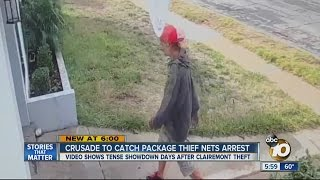 Homeowner relentless in catching package thief