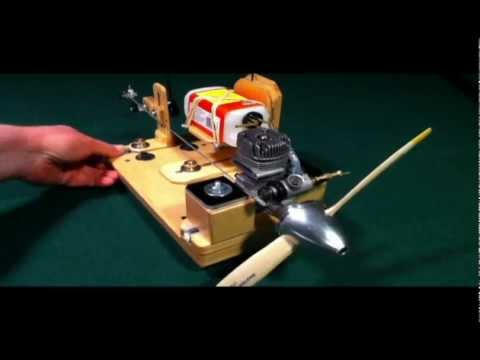 Engine Test Stand For Radio Control Amp Control Line Youtube