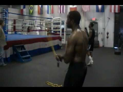 Tracy Rollins Jr. jumping rope