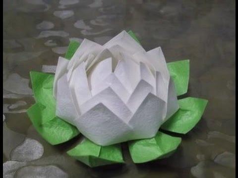 Цветок лотос из бумаги своими руками
