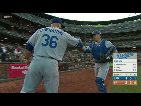LAD@SF: Liberatore gets Span to pop out to escape 7th
