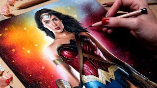 Drawing Wonder Woman