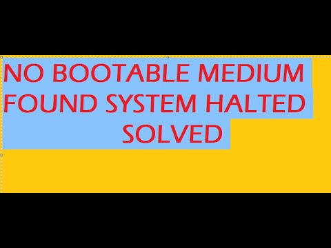 no bootable medium found