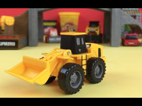 CAT Caterpillar Bridge Builder Playset - Mighty Machine Front Wheel Loader Mighty Wheels