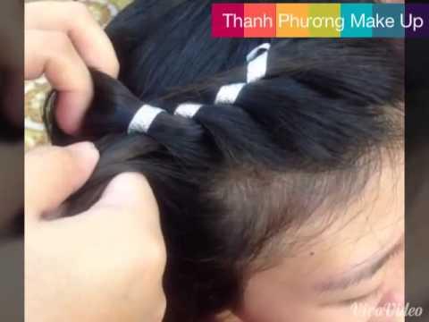 Tết tóc với ruy băng - trang điểm Hải Phòng
