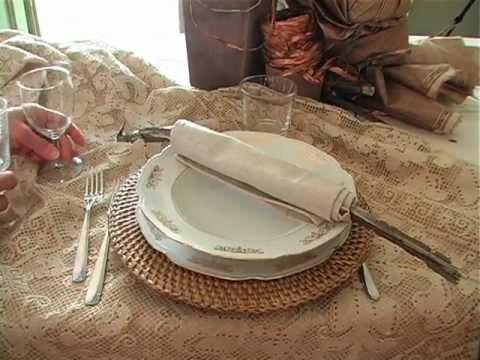 Come preparare una tavola rustica ed elegante uchef tv - Apparecchiare una tavola elegante ...
