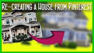 THE SIMS 4:// Recreating a house from Pinterest! (Jupiter Save Collab)