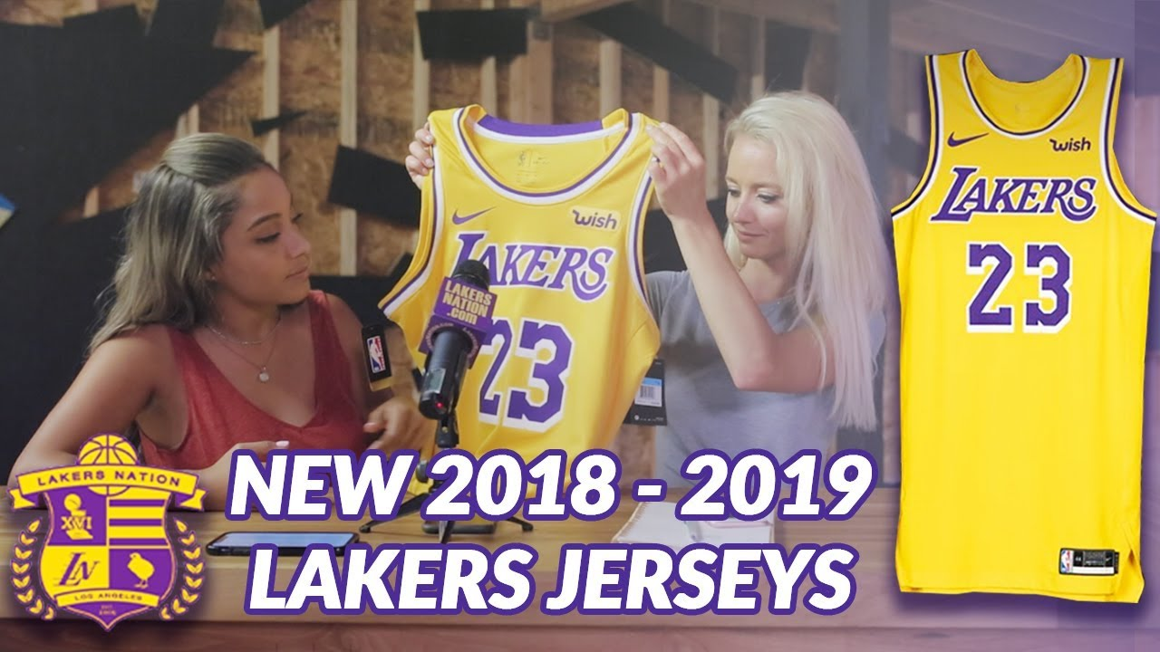huge discount 6b861 25d0b Lakers Nation Review: New 2018-2019 Nike Lakers Jersey Unboxing and First  Impressions