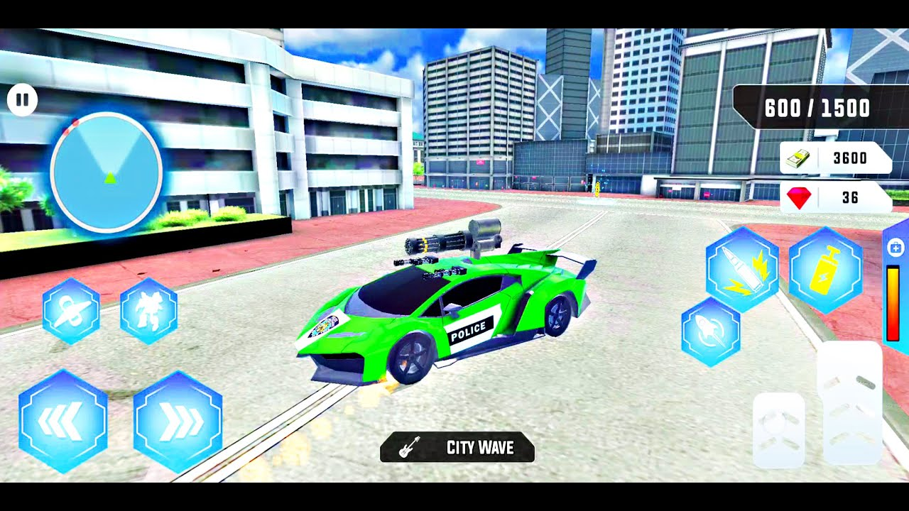 Car Simulator 2 - Flying Helicopter Car Robot - Driving Simulators - Android ios Gameplay