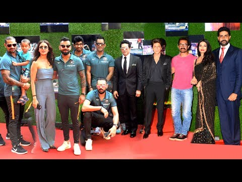 Indian Cricket Team & Bollywood Celebs At Sachin Movie GRAND Premiere -Dhoni,Kohli,SRK,Aamir,Yuvi