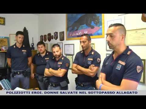 I poliziotti eroi che hanno salvato due donne a rischio annegamento