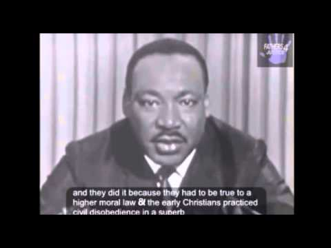 Martin Luther King On Civil Disobedience Desobediencia Civil Youtube