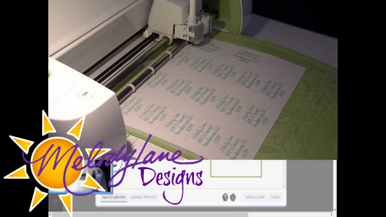 Cricut explore writing address labels youtube