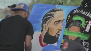 NIPSEY HUSSLE vigil and balloon release - Houston, TX