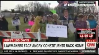 Anger Erupts at Town Halls across the Country