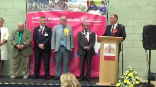 Dagenham & rainham - general election declaration