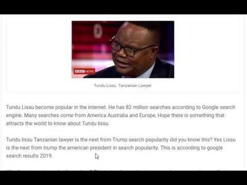 Tundu Lissu Tanzanian Lawyer
