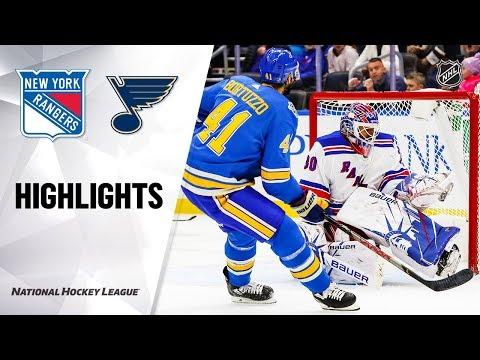 NHL Highlights   Rangers @ Blues 1/11/20