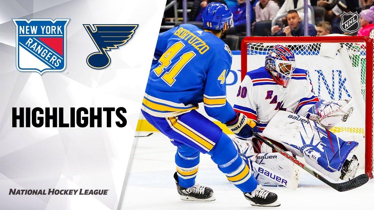 NHL Highlights | Rangers @ Blues 1/11/20