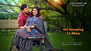 Sreekesh with Aishwarya (Wedding live) ON-26-11-2020