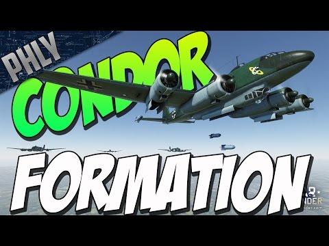 CONDOR FW-200 BOMBER FORMATION (War Thunder Gameplay)