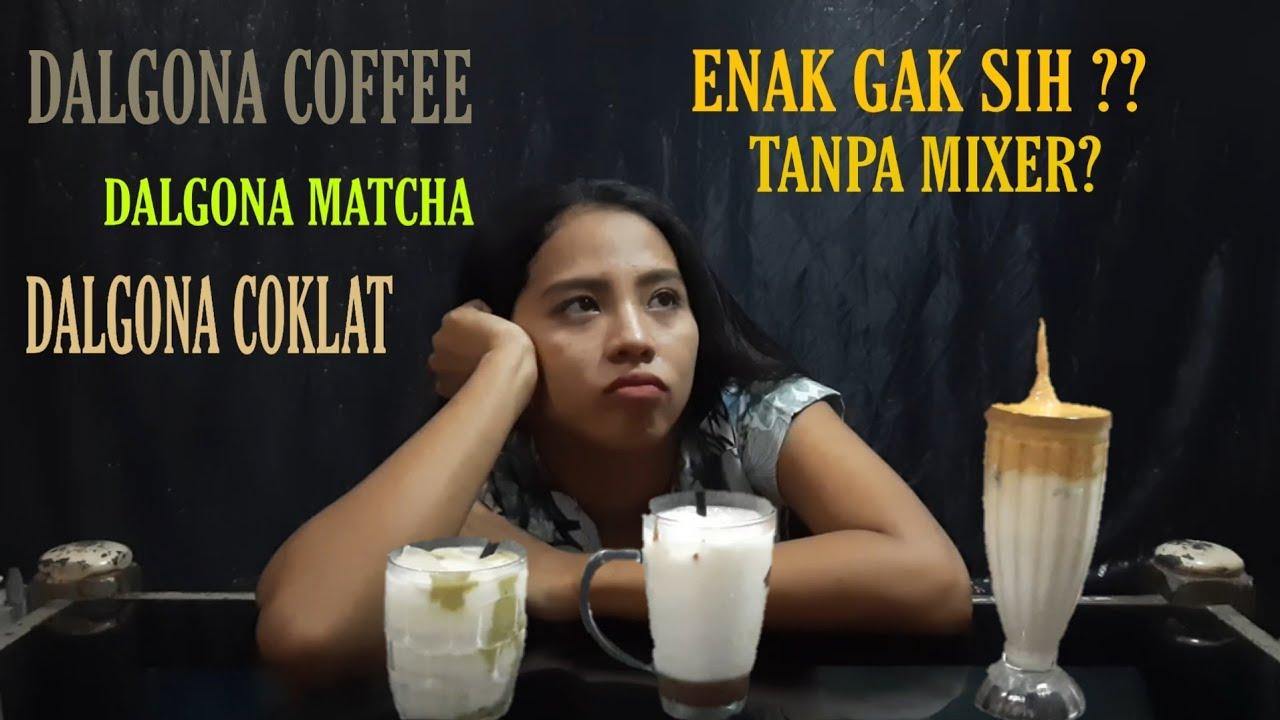CARA MEMBUAT DALGONA COFFEE TANPA MIXER & GAK RIBET - YouTube