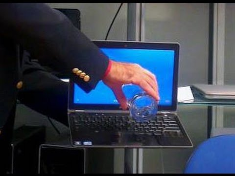 Water all over Dell Latitude laptop (real test)
