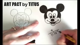 cum sa desenezi   mickey mouse how to draw mickey mouse