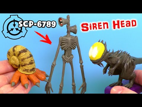 СИРЕНОГОЛОВЫЙ SCP-6789 Siren Head 🔈 Лепим из пластилина | SCP-745, SCP-075