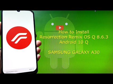Resurrection Remix OS Q 8.6.3 for Samsung Galaxy A30 Android 10 Q